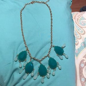 Teal necklace. Pretty for prom
